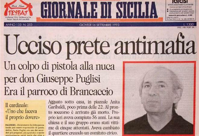 Accadde Oggi. 15 settembre 1993: l'assassinio di don Pino Puglisi. È stato il primomartiredella Chiesa ucciso dallamafia