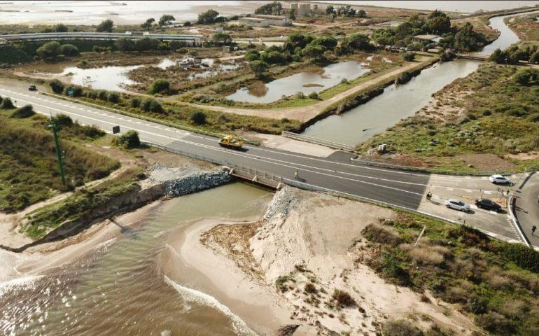 (FOTO) Capoterra: riaperta questo pomeriggio la strada statale 195