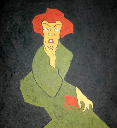 Caricatura di Grazia Deledda a firma di Giuseppe Biasi