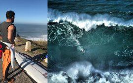 (FOTO) Coppa del Mondo di Surf, Francisco Porcella torna a Nazaré per domare onde di 30 metri