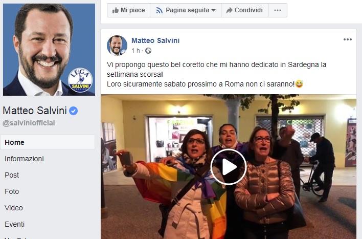 """(VIDEO) Salvini posta il video delle avvocate di Tortolì che cantano 'Bella Ciao': """"Guardate che bel coretto"""""""