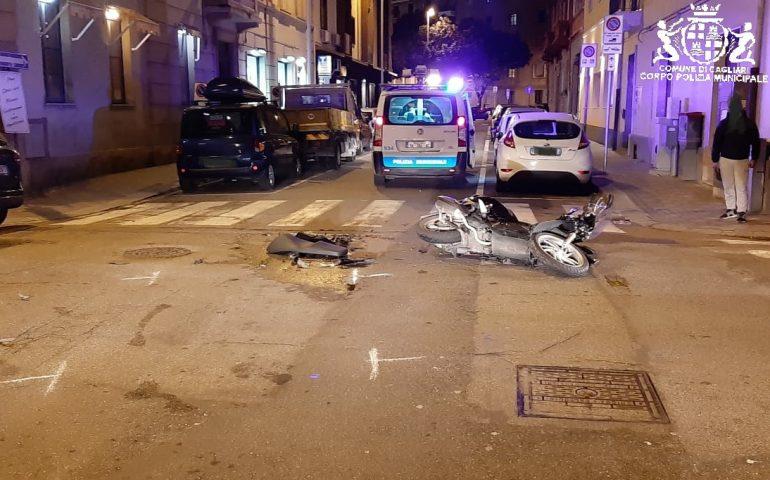 Incidente a Cagliari in via Puccini. Auto contro moto: ferito il centauro