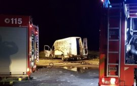 Furgone incendiato a Cagliari