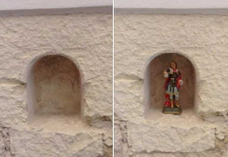 """""""Sant'Efisio è 'miracolosamente' tornato al suo posto!"""": il ladro ha riportato la statuina in chiesa"""