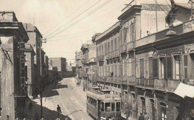 La Cagliari che non c'è più: una foto del Corso Vittorio Emanuele nel 1939