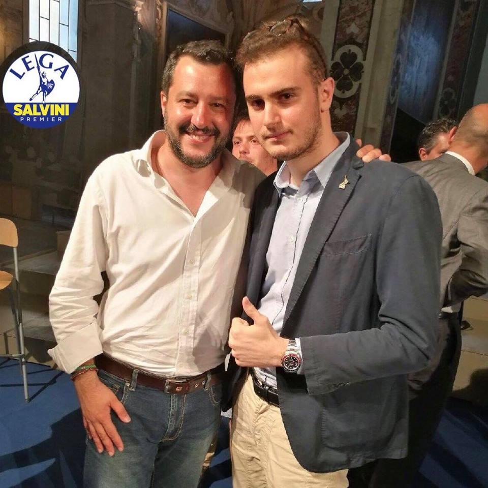 Augusto Casali con matteo Salvini
