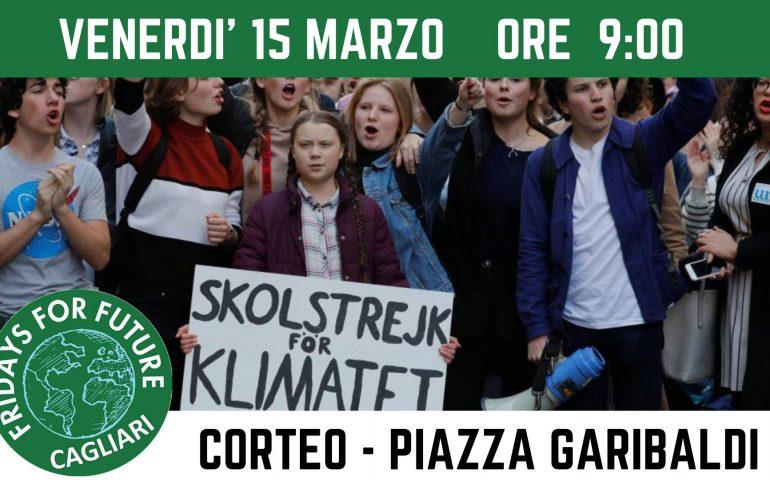 """""""Global strike for future"""": anche a Cagliari studenti in piazza per difendere il pianeta e il loro futuro"""
