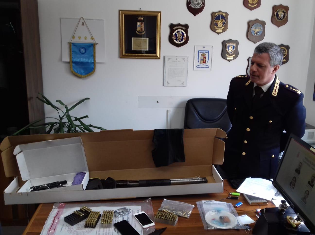 blitz squadra Mobile Cagliari armi e droga