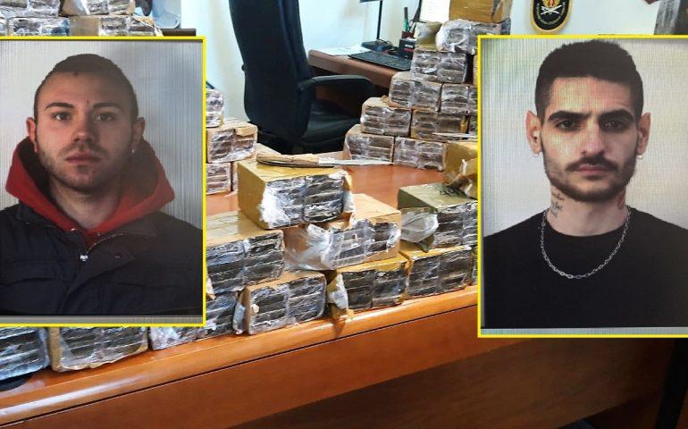Maxi sequestro a Sant'Elia: stroncato un giro d'affari di 500 mila euro. Un quintale di hashish in casa