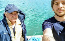 Andrea Masala con il pescatore Paolo