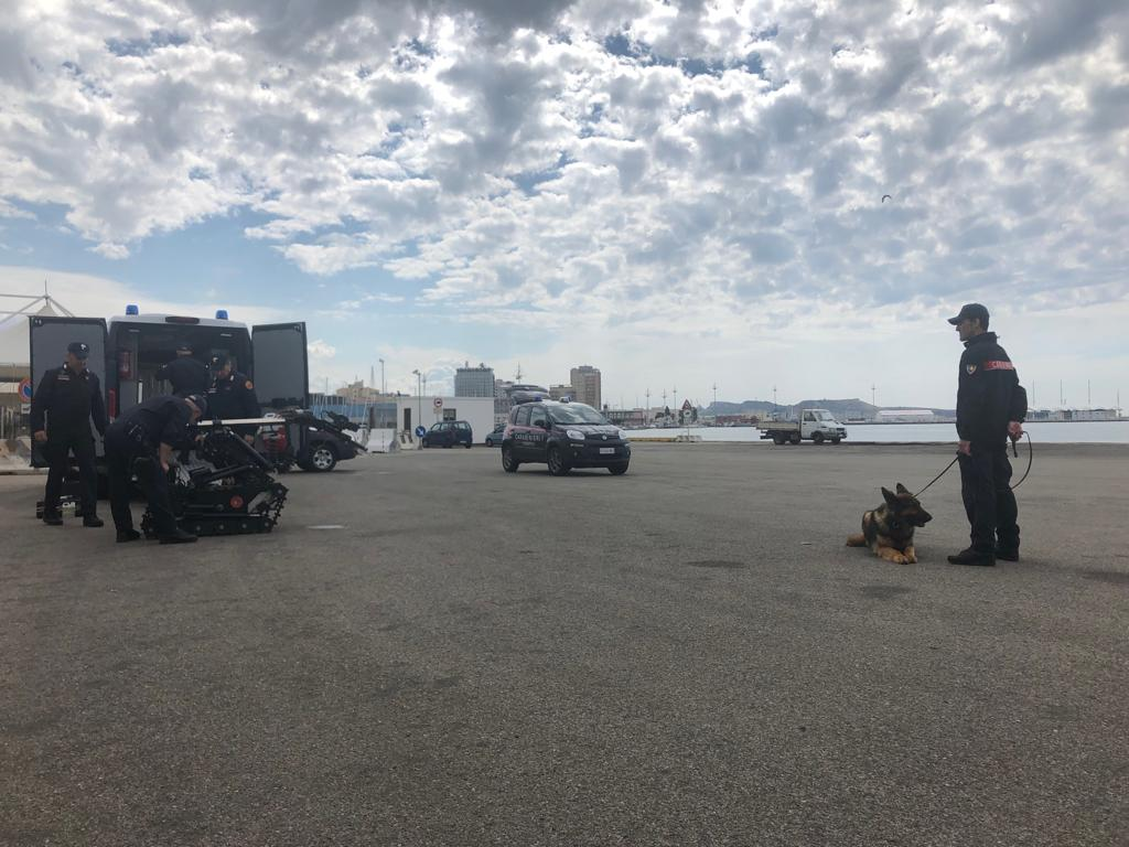 Artificieri impegnati al porto di Cagliari per un'esercitazione di antiterrorismo (8)
