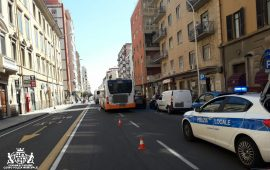Polizia municipale Cagliari via sonnino bus ctm