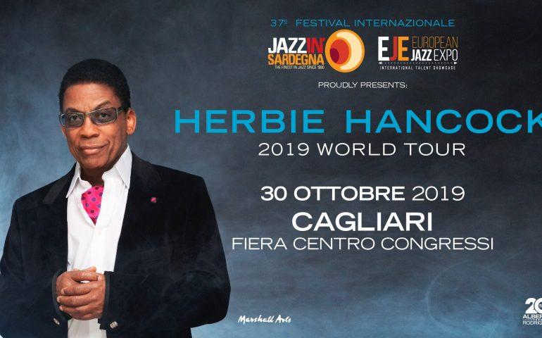 Il 30 ottobre a Cagliari il concerto del leggendario jazzista Herbie Hancock