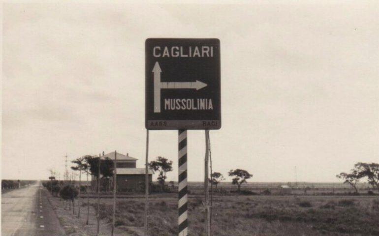 La Cagliari che non c'è più: 1932, indicazioni stradali nel periodo fascista