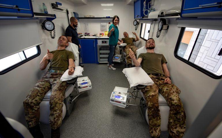 """""""Dona il sangue, dona la vita"""": solidarietà dei militari della Brigata Sassari impegnati a Roma"""