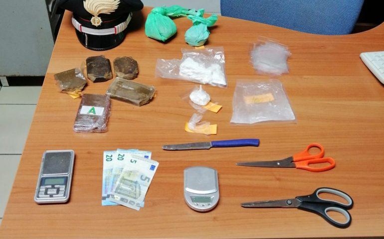 Pirri, minorenne sorpreso con oltre mezzo kg di droga: arrestato dai carabinieri