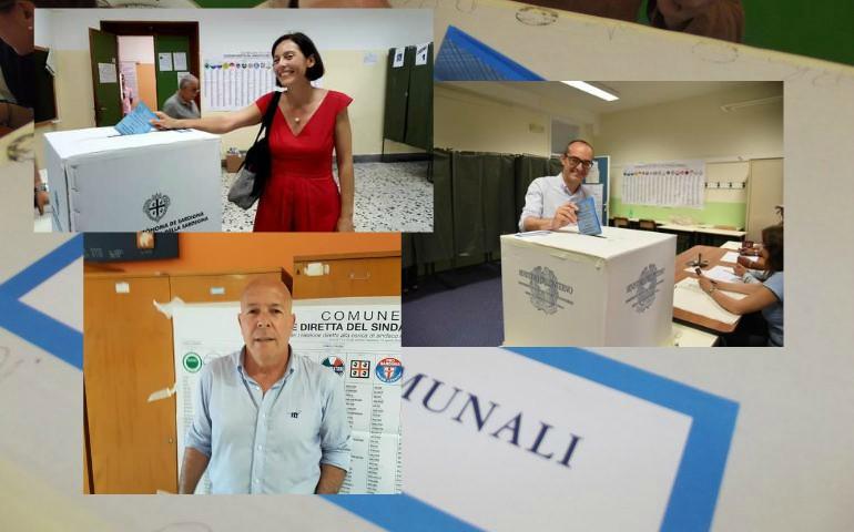Amministrative. A Cagliari gli aspiranti sindaco hanno votato questa mattina