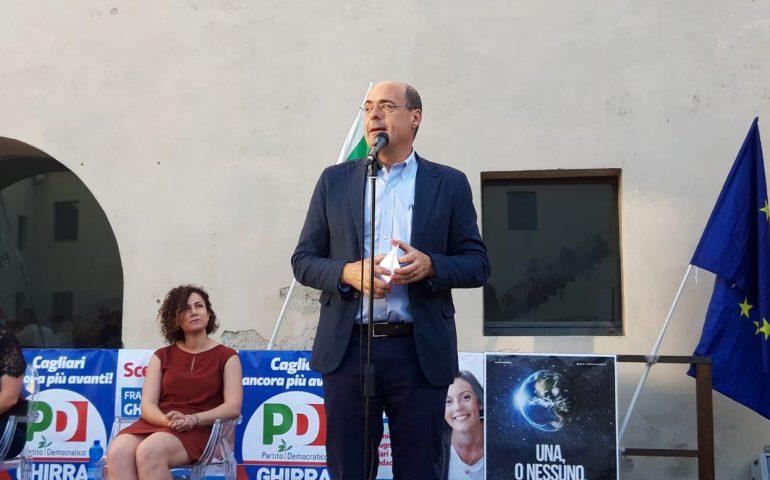 """Zingaretti a Cagliari: """"Difendete ciò che di buono è stato fatto"""""""