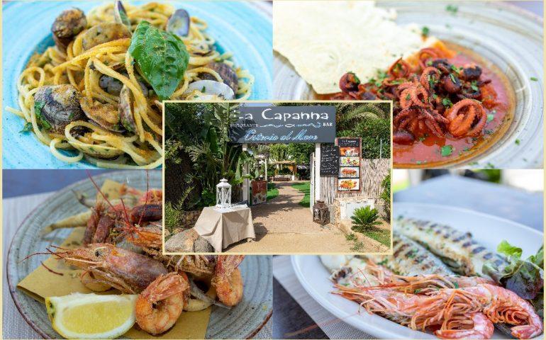 Villasimius, la Capanna – Osteria al mare, il bar ristorante sul mare aperto dalla mattina fino al tramonto