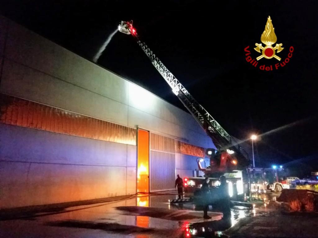 Incendio a Nuraminis