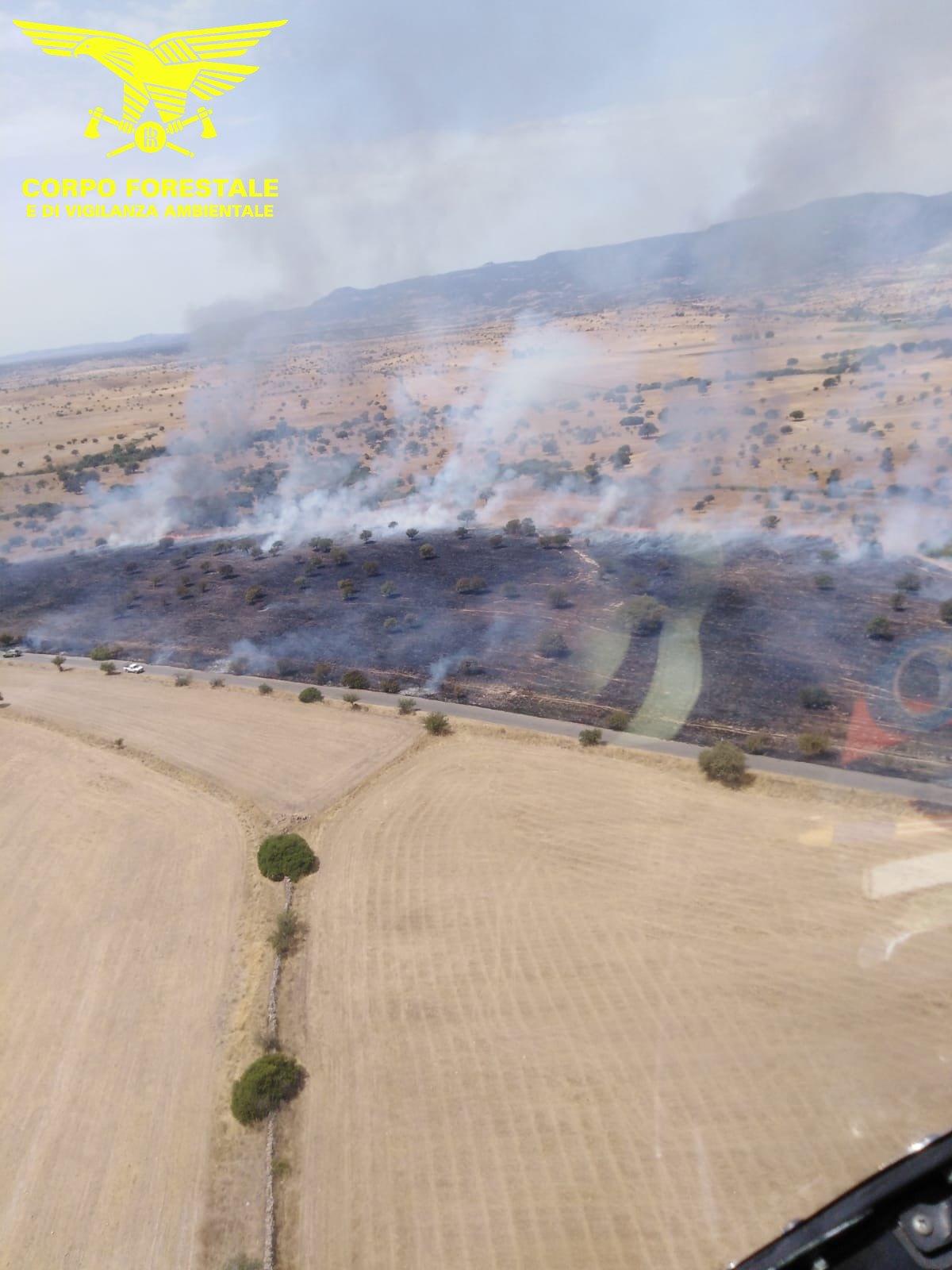 Incendio a Orani