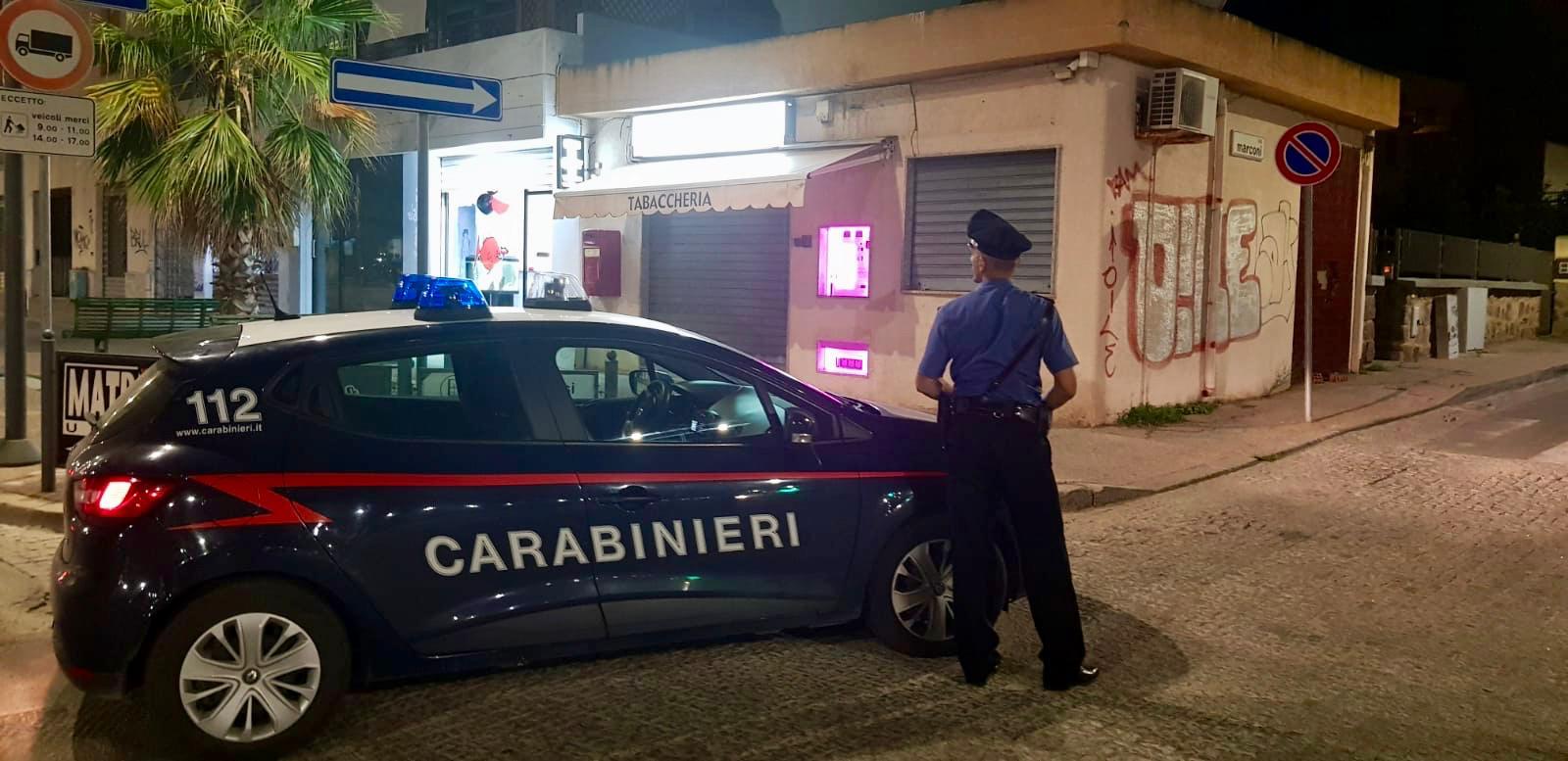 Rapina in una tabaccheria di Carbonia: intervengono i Carabinieri