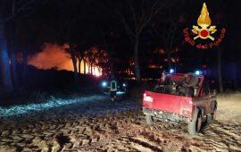 Arborea: incendio vicino all'Horse Country Resort