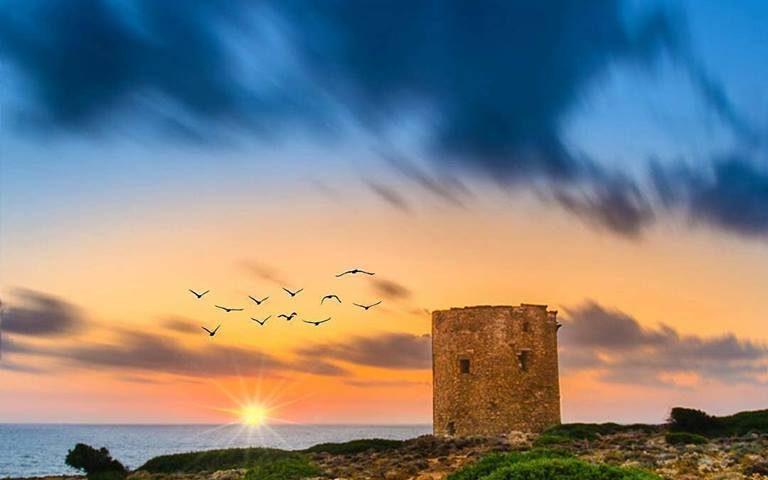La foto. Uno splendido tramonto su Cala Domestica