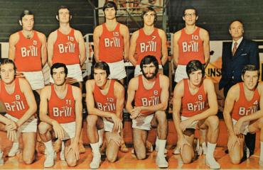 La mitica squadra di basket. Brill Cagliari