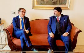 Il ministro Boccia a Cagliari con il presidente Solinas