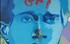 gramsci gay vandalizzato murale a Bari