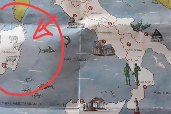 Mappa per bambini: a Roma il Colosseo, a Pisa la torre e in Sardegna? Non i nuraghi, ma le pecore