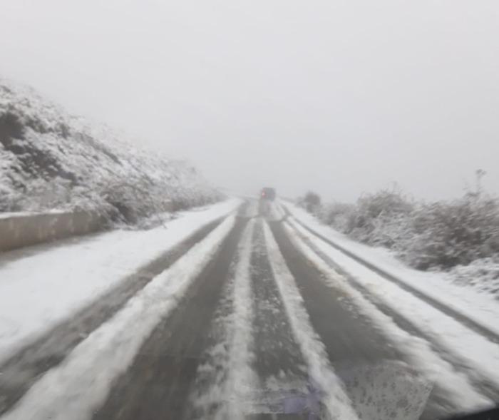 Continua il maltempo in Sardegna, nevica sul Gennargentu