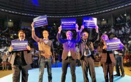 Christian Solinas a Bologna con Salvini per sostenere Lucia Borgonzoni