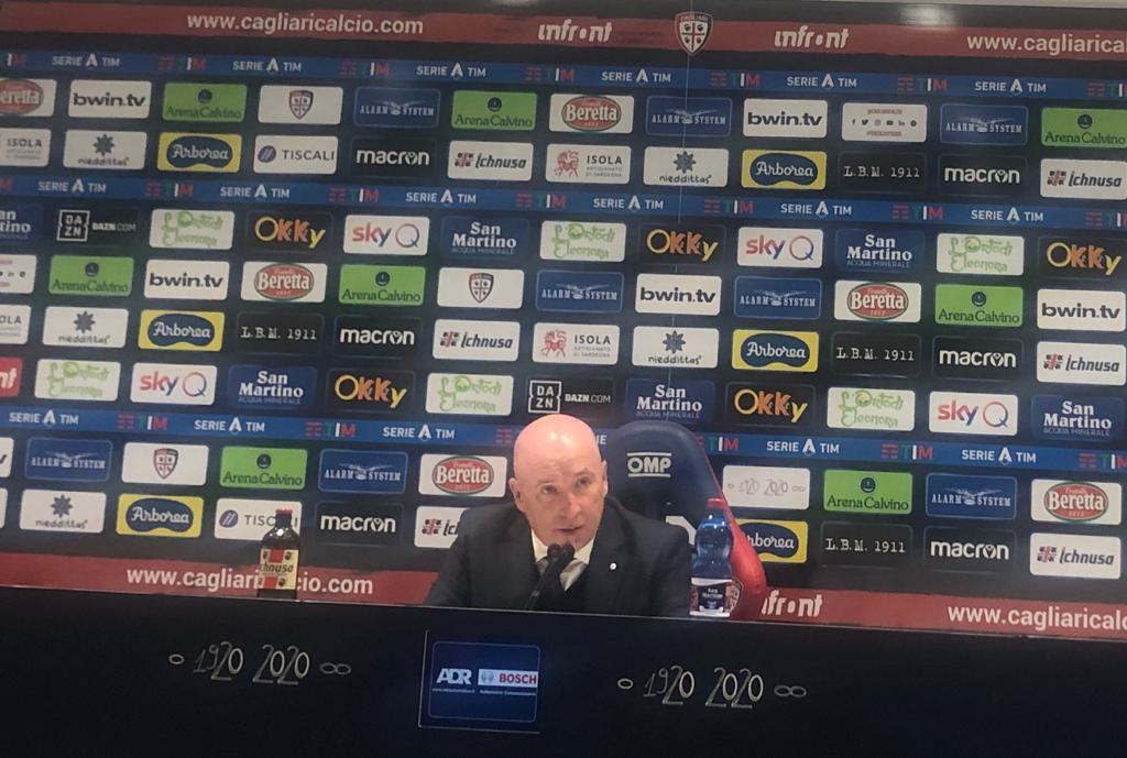 Maran conferenza stampa cagliari milan