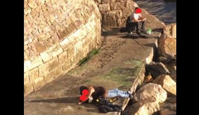 Alghero, coppietta fa sesso sui bastioni davanti a un pescatore: il video è virale