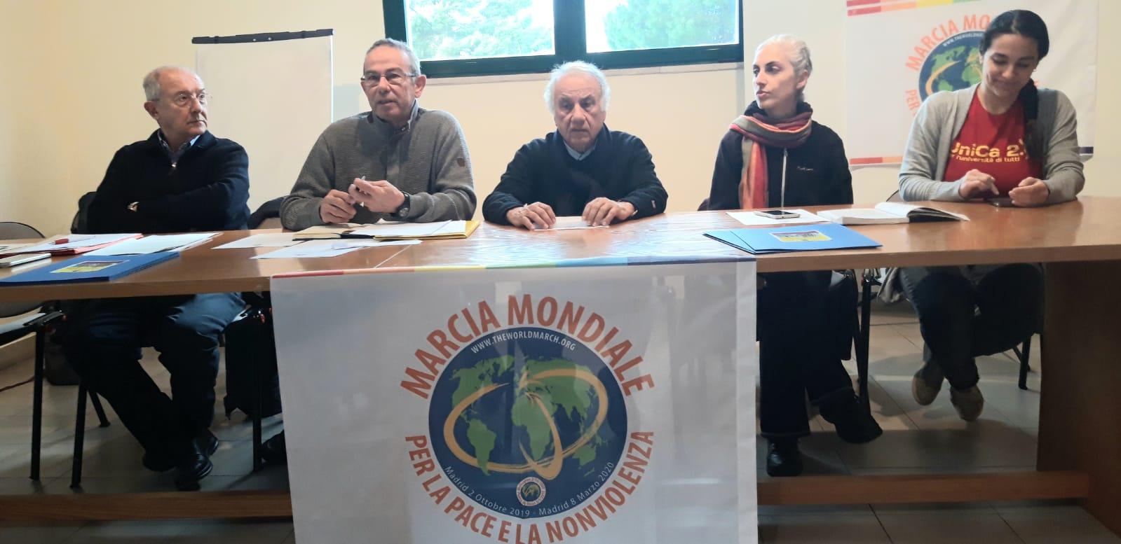 conferenza stampa marcio per la pace