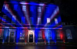 La facciata di Downing Street, residenza del primo ministro britannico all'ora della Brexit