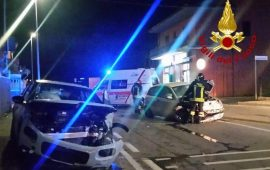 Incidente frontale a Olbia