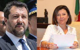 Matteo Salvini e Paola De Micheli