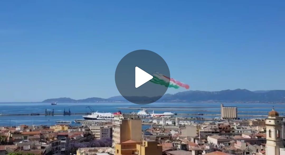 Le Frecce Tricolori a Cagliari - Foto di Roberto Anedda