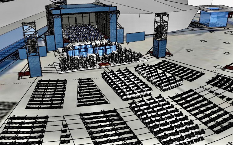 Cagliari, ripartono gli spettacoli del Teatro Lirico nella nuova cornice all'aperto di piazza Nazzari
