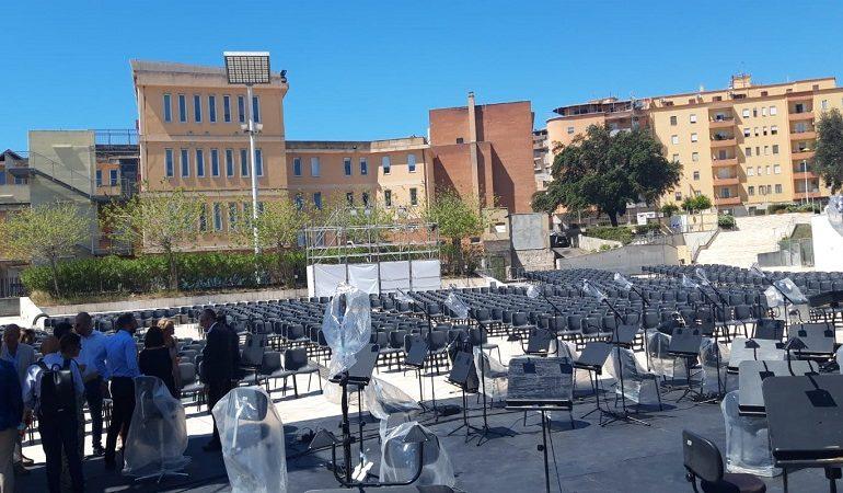 """Inaugurata l'arena di piazza Nazzari, oggi via alla stagione lirica estiva. Truzzu: """"Regaliamo questo spazio alla città"""""""