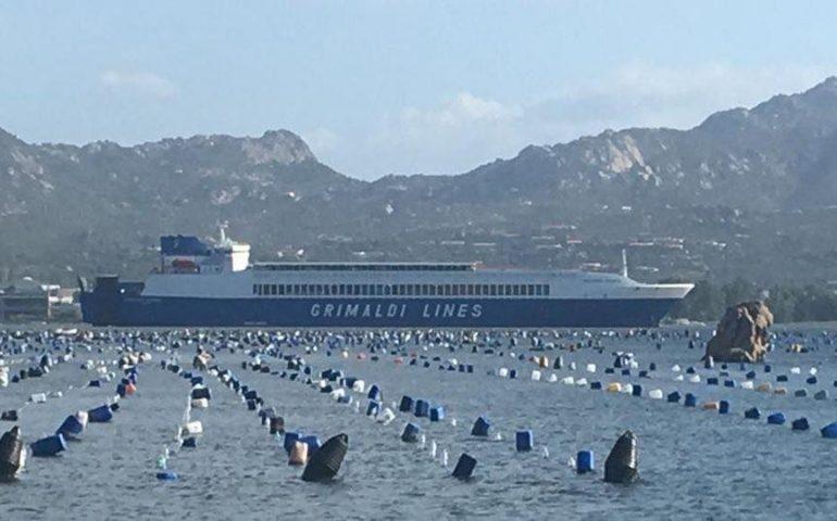 Olbia, nave cargo si incaglia in porto: si teme per gli allevamenti di cozze
