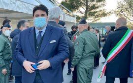 Sardegna, il presidente Solinas e il ministro Guerini in visita all'International flight school di Decimomannu