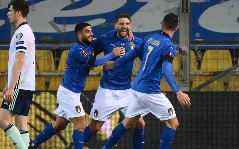 Qualificazione mondiali: l'Italia batte l'Irlanda del Nord 2-0