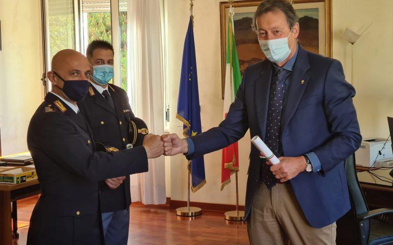 Il Questore di Cagliari premia due agenti della Polizia meritevoli