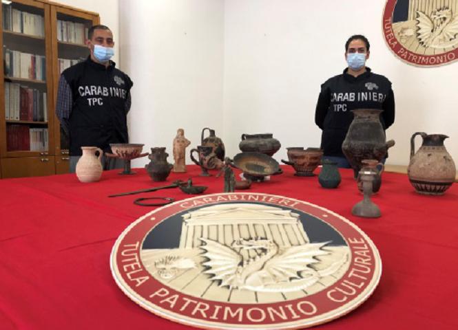1.120 beni archeologici sequestrati in Sardegna nel 2020: l'azione dei Carabinieri del TPC