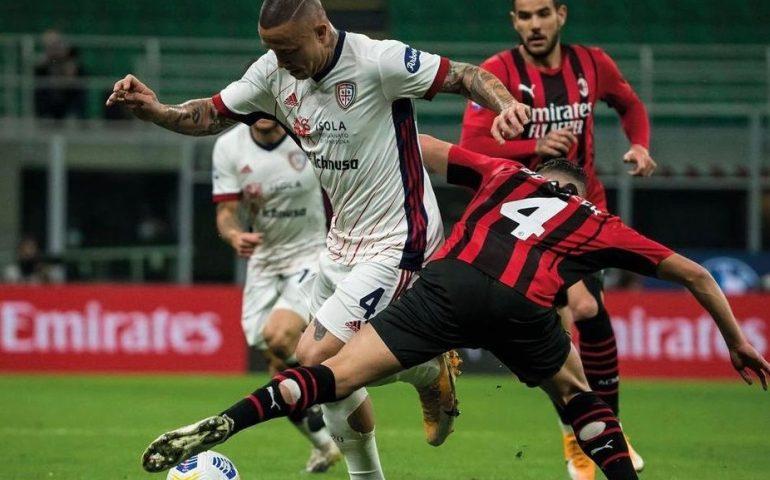 Cagliari da applausi: già salvo frena il Milan e si regala uno splendido pari a San Siro