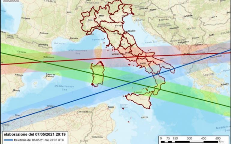 Razzo cinese incontrollato: ecco le traiettorie che riguardano l'Italia, Sardegna compresa